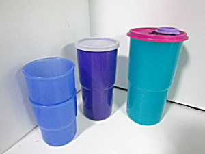 Vintage Tupperware Table Top Stacking Tumbler Set