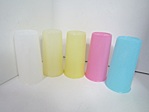 Vintage Tupperware Pastel 6 Ounce Tumbler Set