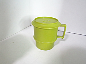 Vintage Tupperware Avocado Green Stacking Mug