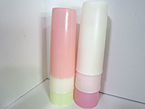 Vintage Tupperware Pastel Pinks & Clear Tumbler Set