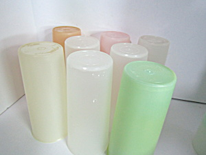 Vintage Tupperware Light Pastels 12 Oz Tumbler Set
