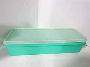 Vintage Tupperware Clear/medium Green Celery Keeper