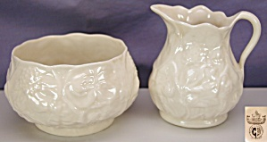 Belleek 'lotus' Creamer & Sugar - 3rd Bm
