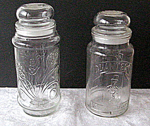 Planters Commemorative Clear Glass Jars 1981, 1982