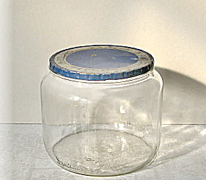 Dura Glass Kitchen Jar Vintage 1930s