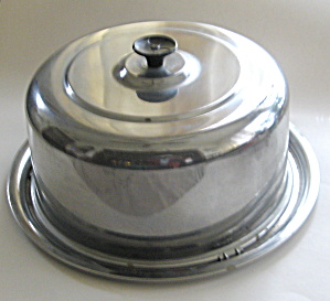 Everedy Chrome Cake Carrier Saver Vintage 1950