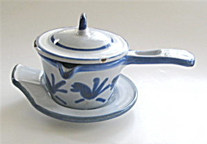 Cast Iron Butter Warmer Enameled Vintage