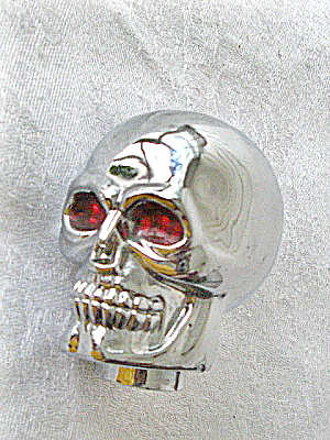 Motorcycle Decoration Chrome Skull 1970s -80s Heavy Metal