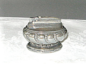 Ronson Crown Table Lighter 1936-49 Silverplate