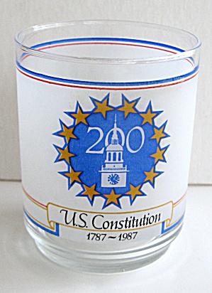 Us Constitution 200 Yr Commemorative Drinking Glass