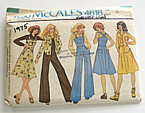 Mccall's Vintage Jumper,overalls,jacket And Shirt