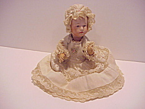 Heubach(?) 8 Inch Bisque Doll Painted Eyes