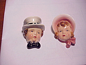 Goldscheider Boy And Girl Wall Plaques