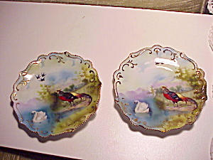 Rs Prussia Pair Of Three Scene Plates