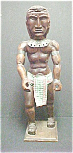 Carved Figure Of An Oceanic Warrior