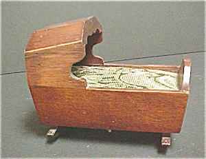 Antique Style Wooden Cradle - Music Box