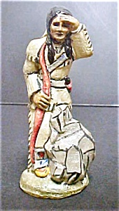 Vintage Indian Scout Figure - Signed