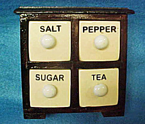 Storage Box - Salt, Pepper, Tea And Sugar