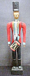 Folk Art Drummer - Wooden Soldier