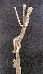 Older Bamana Iron Stick Figure W/bells