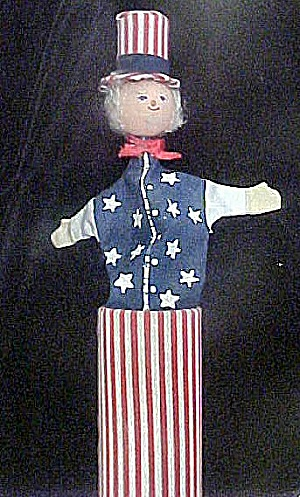 Vintage Toy Push Up Figure - Uncle Sam