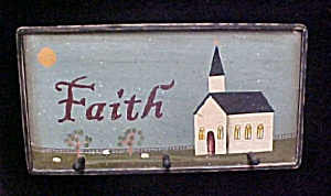 Painted Faith Wall Art W/hook Pegs