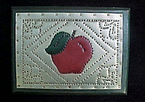 Punched Tin Folk Art Apple