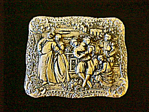 Medieval Design Metal Trinket Box