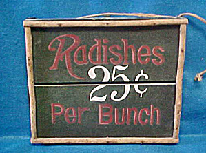 Radishes Country Wooden Sale Sign