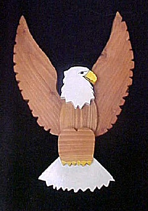 Handmade Wooden Eagle - Made In Montana