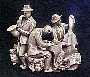Jazz Music Band Group Sculpture