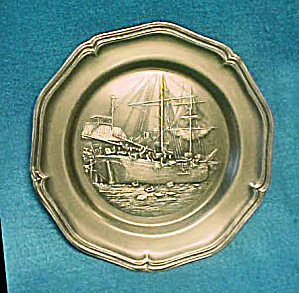 American Centennial Boston Tea Party Plate