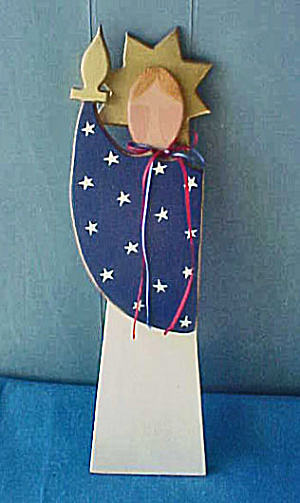 Statue Of Liberty - Wood Folk Art
