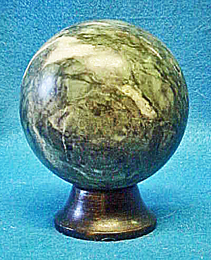 Green Stone Sphere On Stand