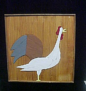 Wooden Rooster Folk Art