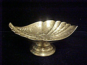 Graceful Shallow Brass Bowl From India