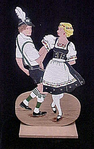 Wooden Austrian Dancing Couple