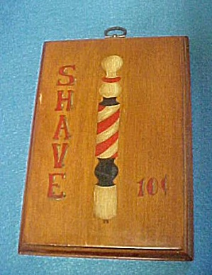 Vintage Wooden Shaving Sign