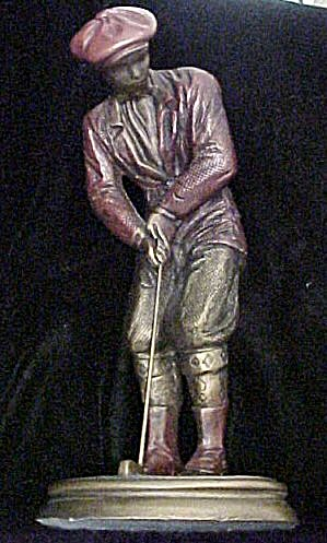 Austin Hampton Green Male Golf Sculpture