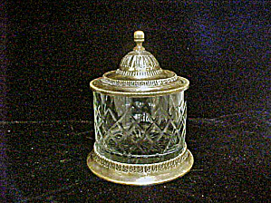 Glass-brass Tobacco Jar Humidor