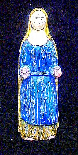 Santo Saint Mary Carved Wooden Figure