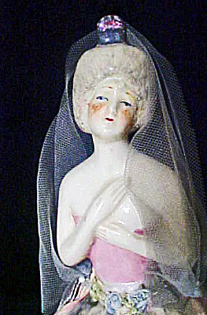 China Lady Boudoir Doll - Vintage