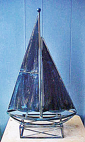 Large Metal Sailboat Sculpture