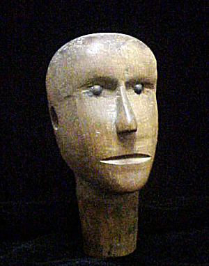 Carved Wooden Head - Late 19th Century