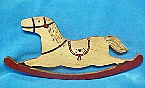 Wood Rocking Horse Wall Art
