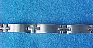 Magnetic Silver-toned Classic Bracelet