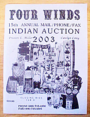 Four Winds Indian Auction Catalog - 2003