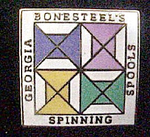 Georgia Bonesteel's Spools Spinning Lapel Pin