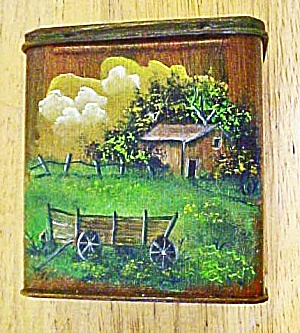 Western Hand Painted Scenery Tin