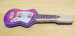 Guitar Shaped Tin Container